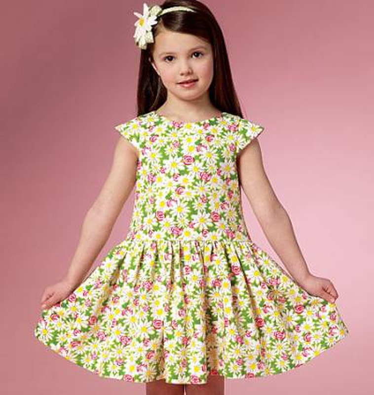 Schnittmuster Butterick 6201 Mädchenkleid Bei