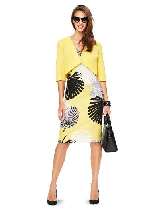 Schnittmuster Kleid Mit Jacke Burda 6773
