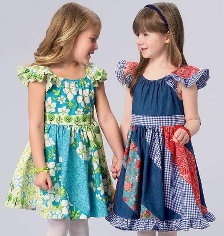Schnittmuster Kwiksew 0184 Mädchenkleid Kinder Xxsl 310