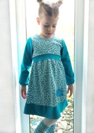 Schnittmuster Mädchen Jerseykleid Kleine Maje Gr 80  164