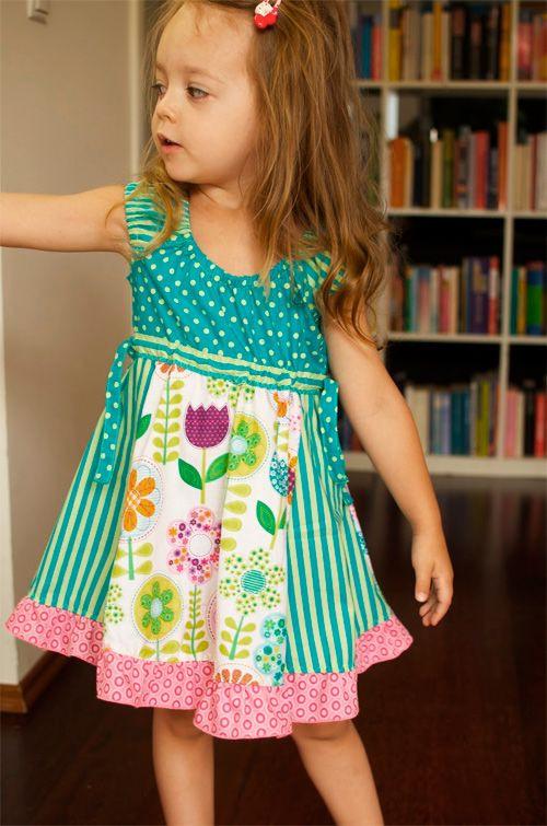Schnittmuster Tini  Kleider Für Kleine Mädchen Kinder