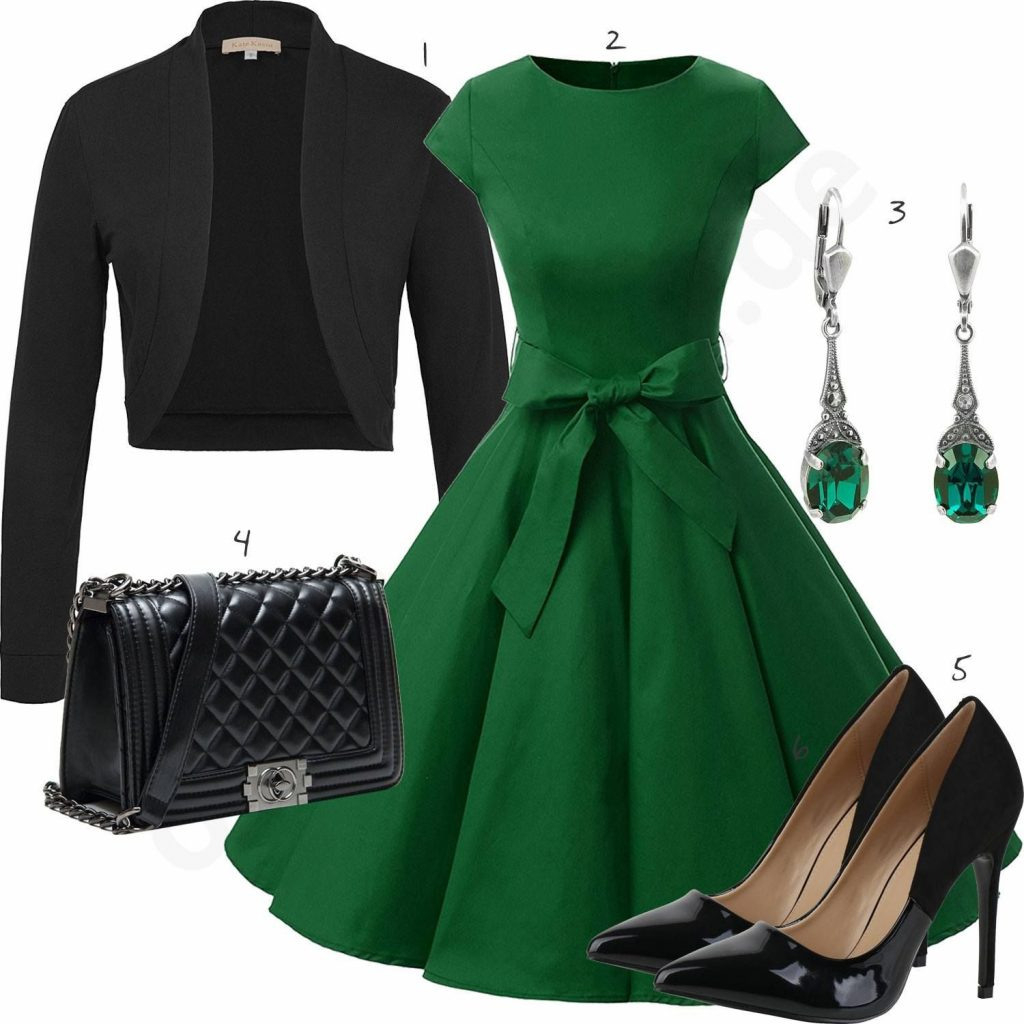 Schön Elegantes Grünes Kleid Bester Preis  Abendkleid