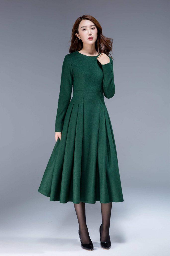 Schön Grünes Elegantes Kleid Design  Abendkleid