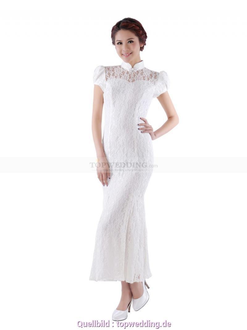 Schön Langes Weißes Kleid Mit Spitze Malka  Weißes Langes