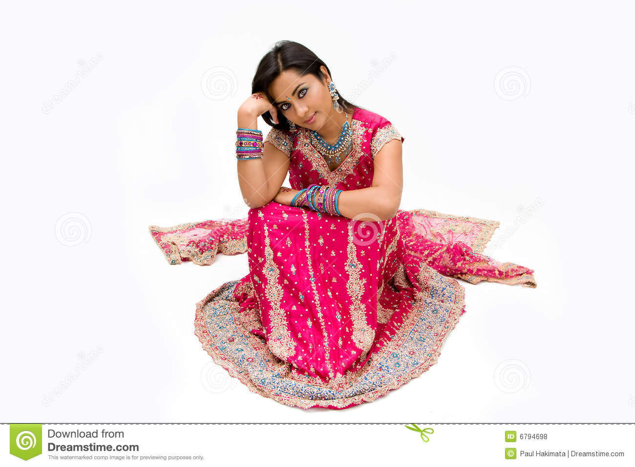 Schöne Bengalibraut Stockfoto Bild Von Think Rhinestones