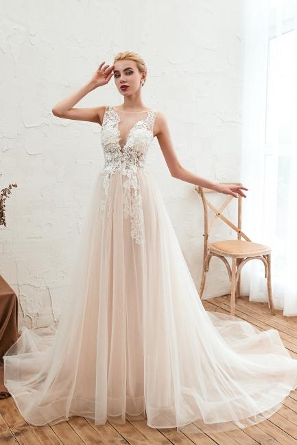 Schone Hochzeitskleider Cream  A Linie Hochzeitskleid
