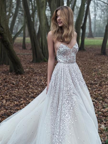 Schone Hochzeitskleider Mit Glitzer  Hochzeit