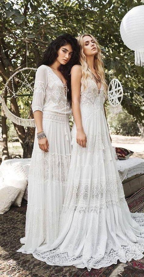Schöneinspirationen  Hochzeit Kleidung Hippie
