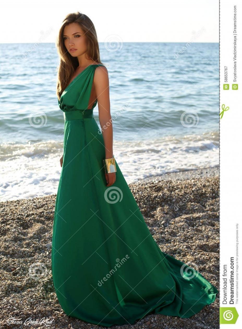 Schönes Grünes Kleid  Abendkleider