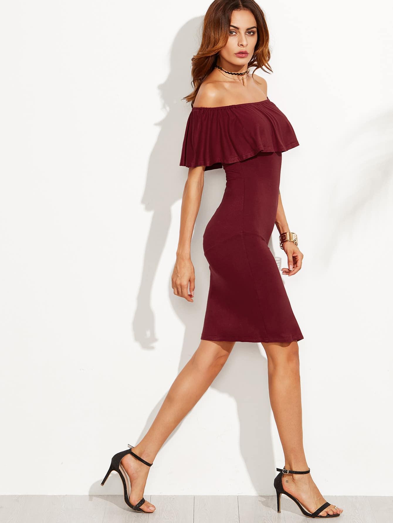 Schulterfreies Kleid Rot  Trendige Kleider Für Die Saison