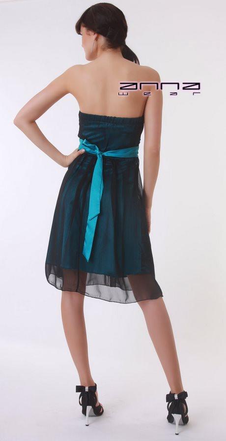 Schwarz Türkises Kleid