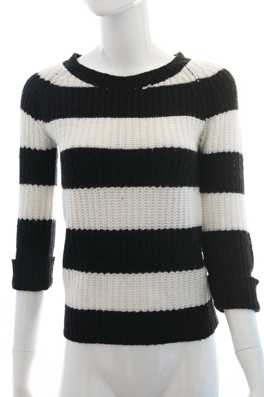 Schwarz/Weiß Gestreifter Pullover Von Atmosphere