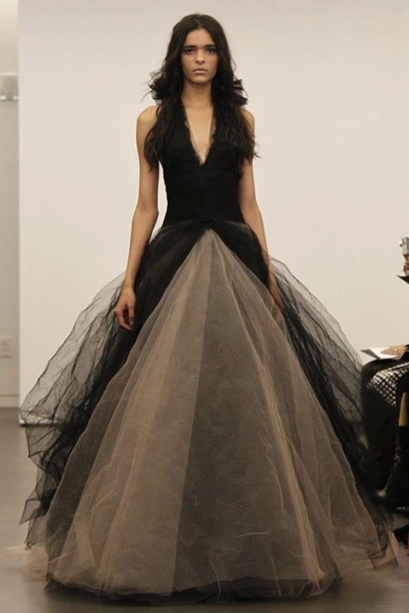 Schwarze Hochzeitskleid Shocking Innovation Von Vera Wang