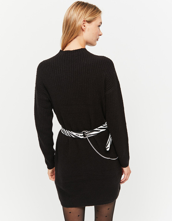 Schwarzes Geripptes Kleid  Tally Weijl Online Shop