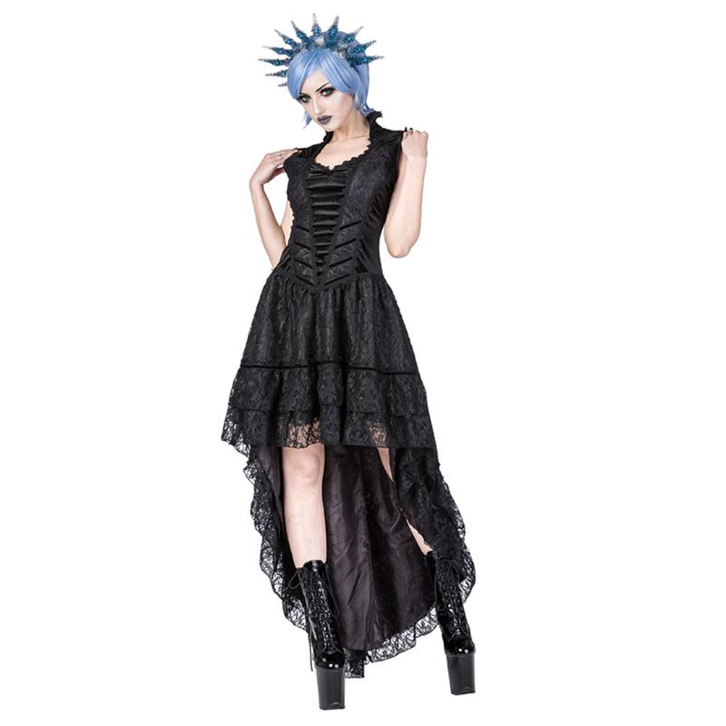 Schwarzes Gothic Kleid Aus Spitze  Boudoir Noir