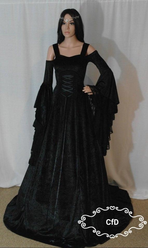 Schwarzes Hochzeitskleid  Hochzeittrauungparty