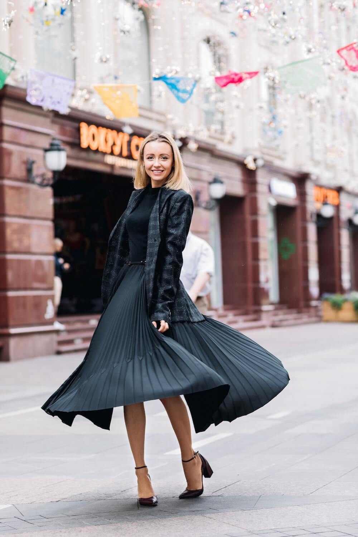 Schwarzes Kleid Kombinieren Im Herbst  50 Outfits Für