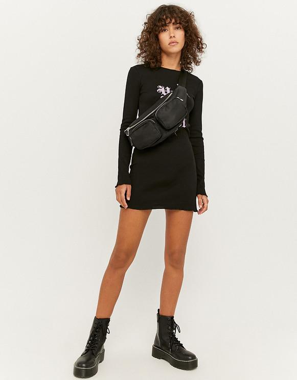 Schwarzes Langärmliges Kleid  Tally Weijl Online Shop