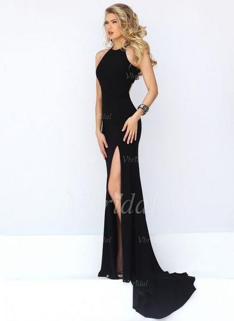 Schwarzes Langes Kleid Mit Schlitz