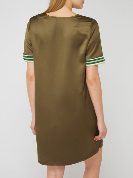Scotch  Soda Kleid Aus Satin Mit Streifendetails In Grün