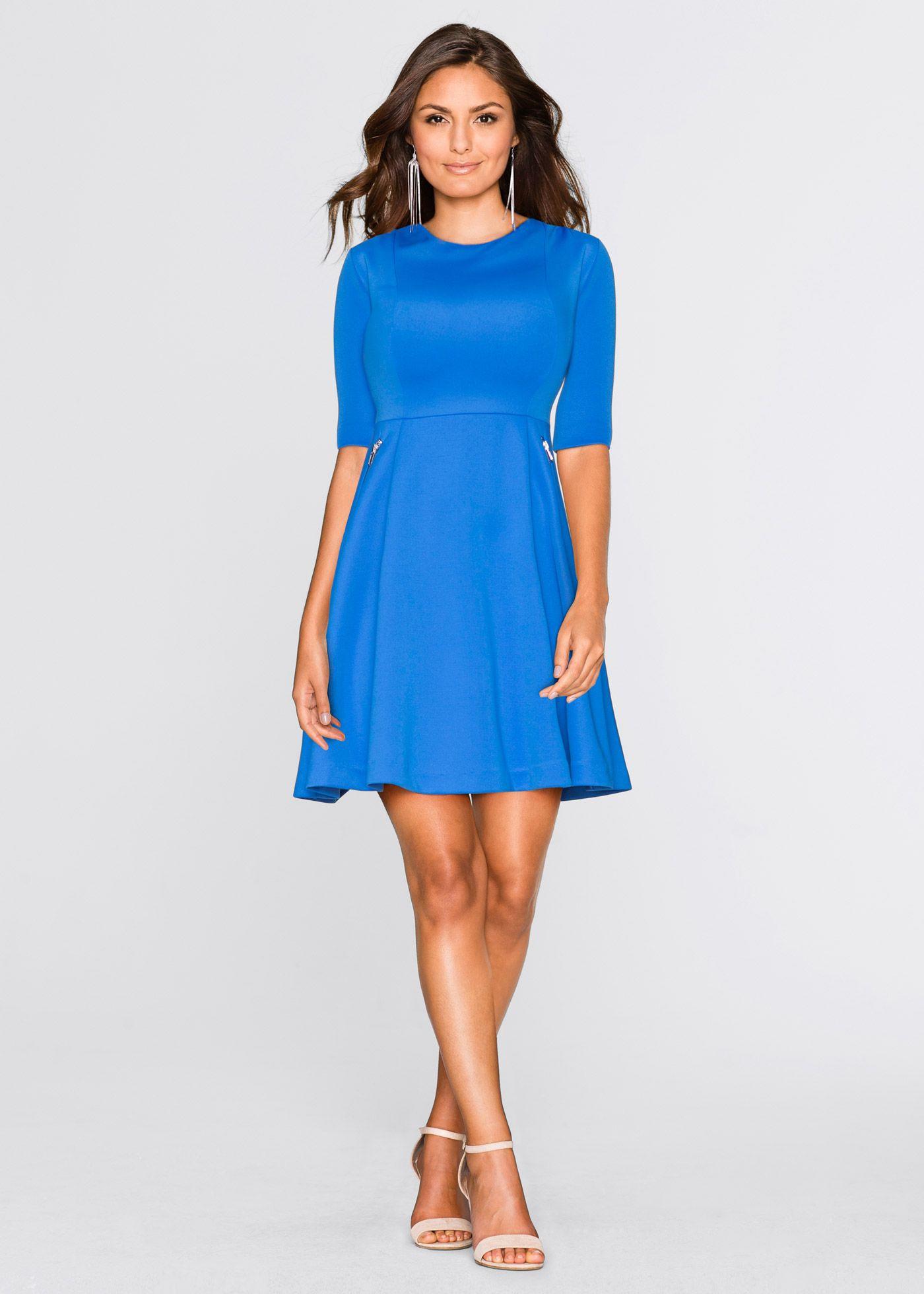 Scubakleid Bodyflirt Azurblau  Frauen Outfits Kleider
