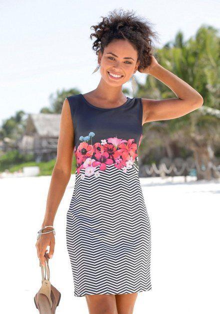 Scubakleid In Schmaler Form  Sommer Strandkleider