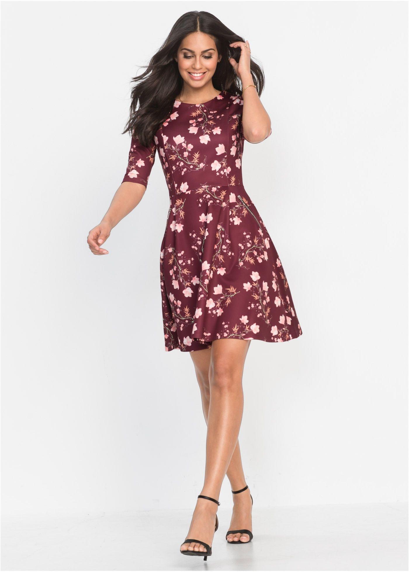 Scubakleid  Kleider Kleid Mit Ärmel Modestil