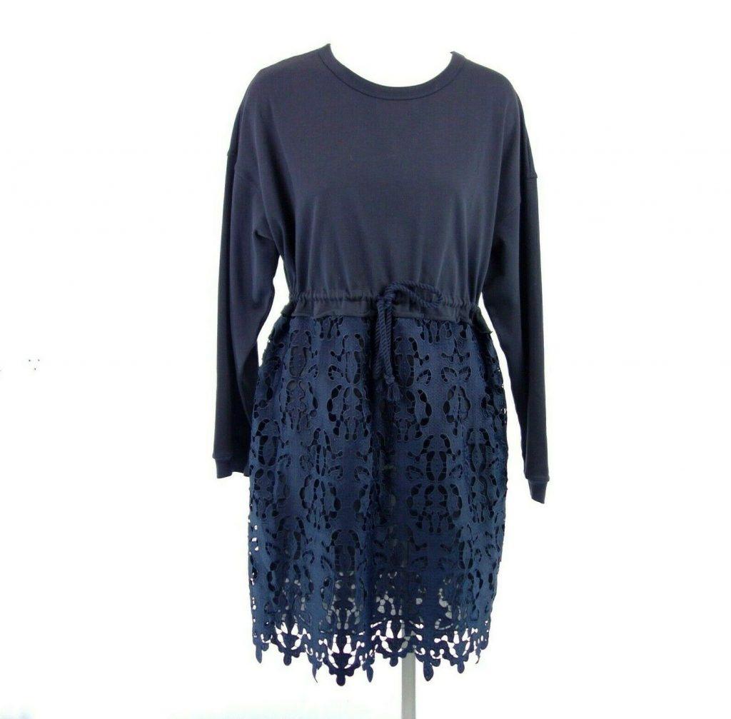 Seechloé Damen Kleid S8Sjr12 Gr M 38 Blau Mit Spitze