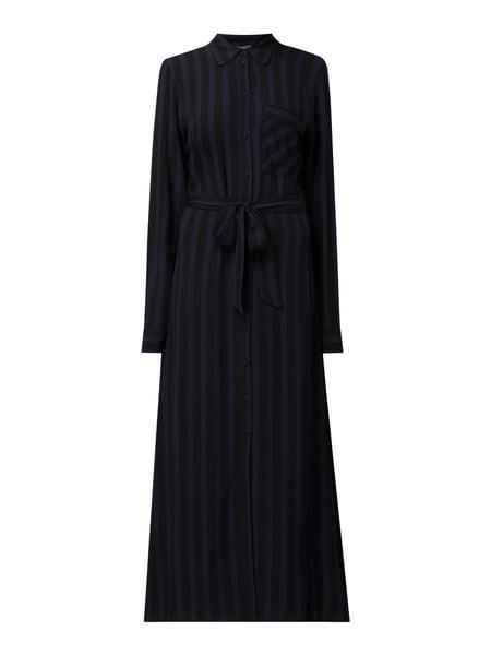 Selected Femme Blusenkleid Mit Streifenmuster In Grau