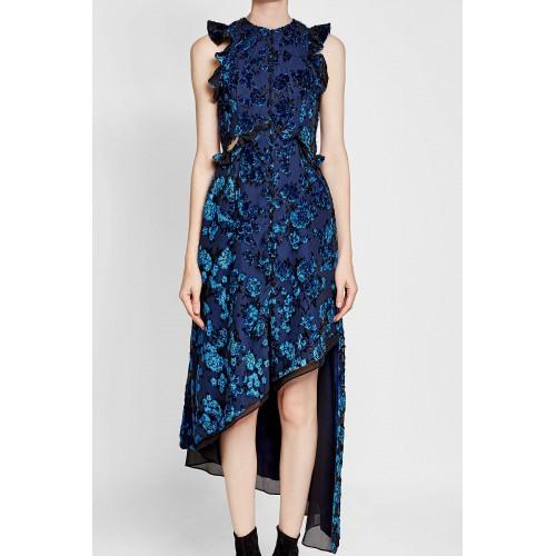 Selfportrait Asymmetrisches Kleid Mit Rüschen Und