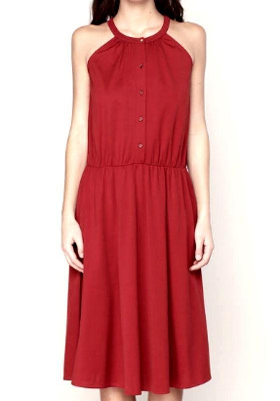 Sessun  Kleid Modell Panzacola 2017 Rot Ziegel Größe M