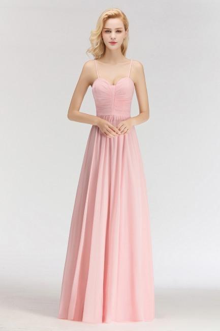 Sexy Brautjungfernkleider Chiffon Lang Rosa Etuikleider