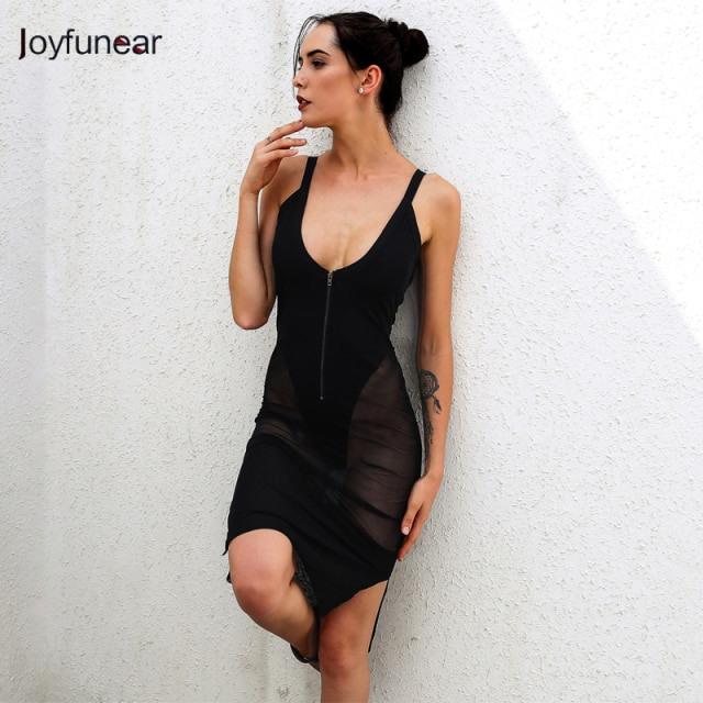 Sexy Kleidung Schwarz Mesh Bodycon Frau Nachtwäsche Kleid