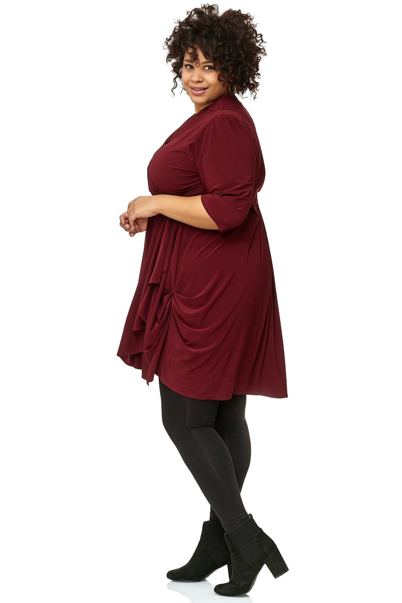 Sexy Look Damen Wickel Tunika Kleid  Maltex24