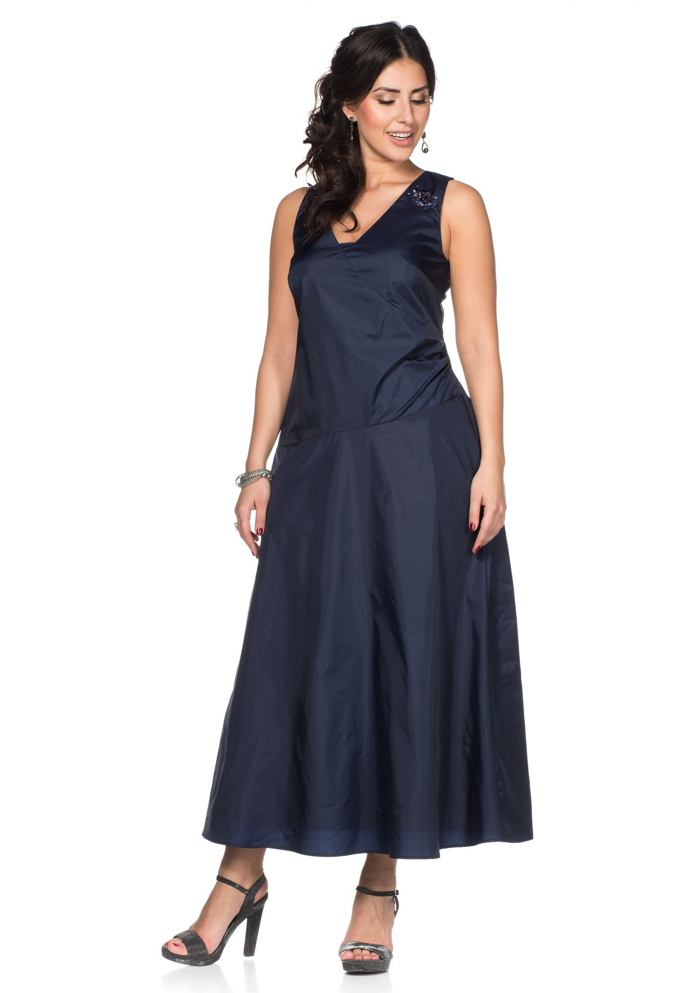 Sheego Style Abendkleid Marine Kurzgr Neu Kp 13999