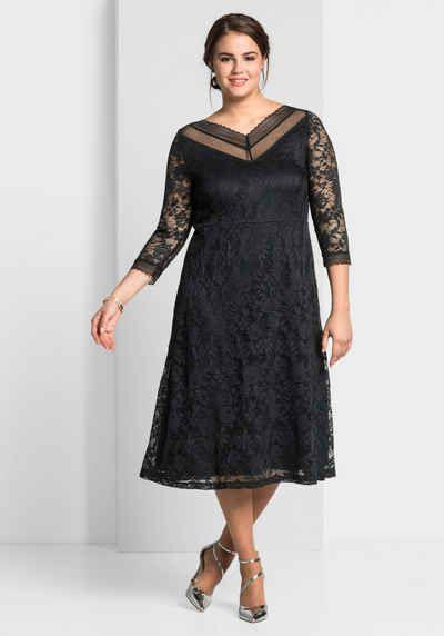 Sheego Style Abendkleid Mit Transparenten Ärmeln Florale