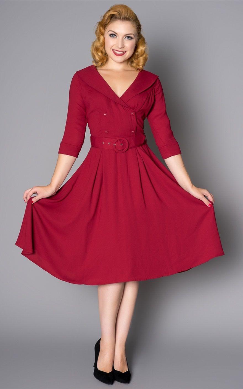 Sheen Clothing Kleid Rosie Rot Von Rockabilly Rules