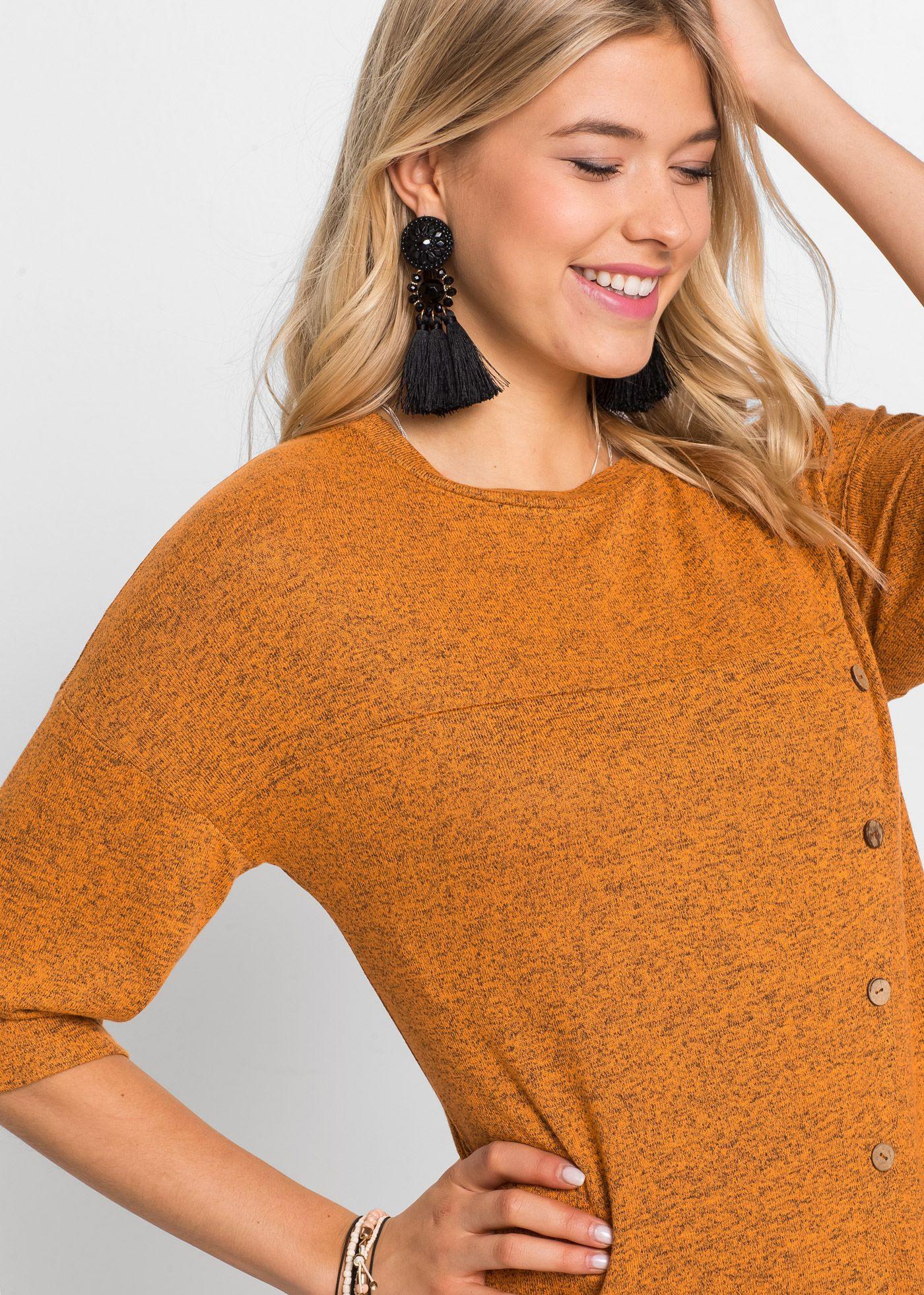 Shirtkleid Mit Knopfleiste Gelb  Rainbow Online Bestellen