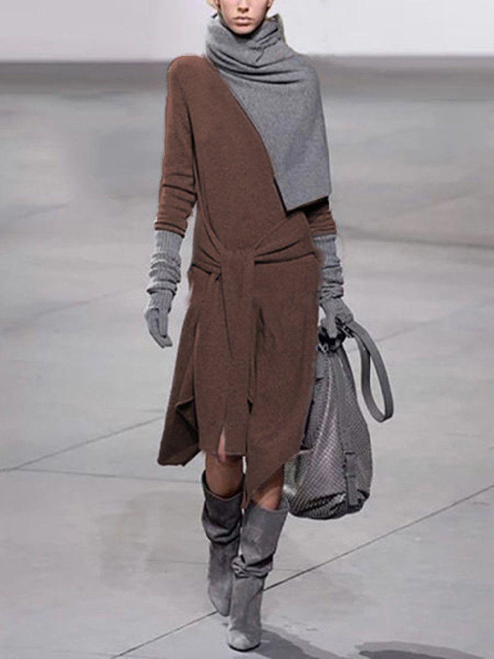 Shop Kleider  Modetalente Casual Kleider Langarm