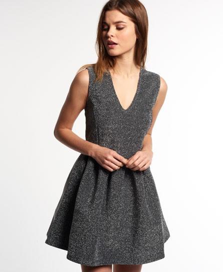 Silber Glitzer Kleid