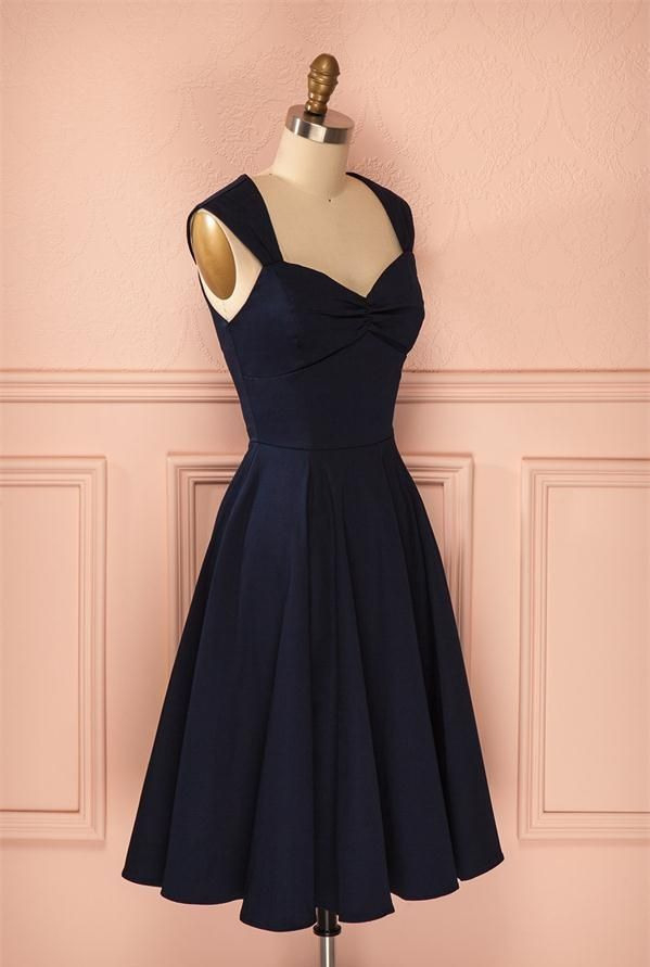 Simple Short Black Homecoming Dresseselegant Handmade