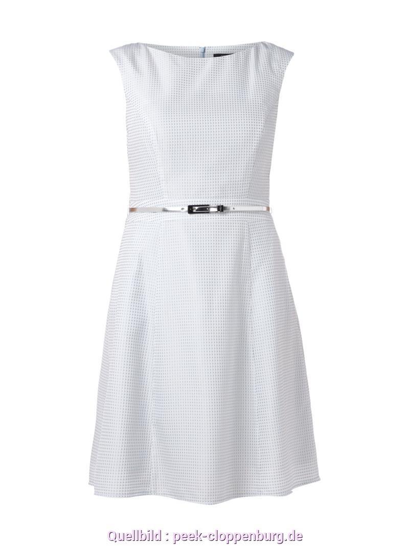 Sinnvoll Comma Kleid Hellblau Comma Kleid Mit Gittermuster