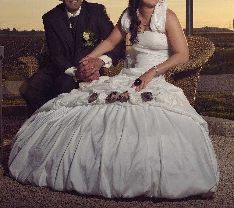 Sissi Hochzeitskleid Mit Braunen Rosen  Cindy  Ella Bridal