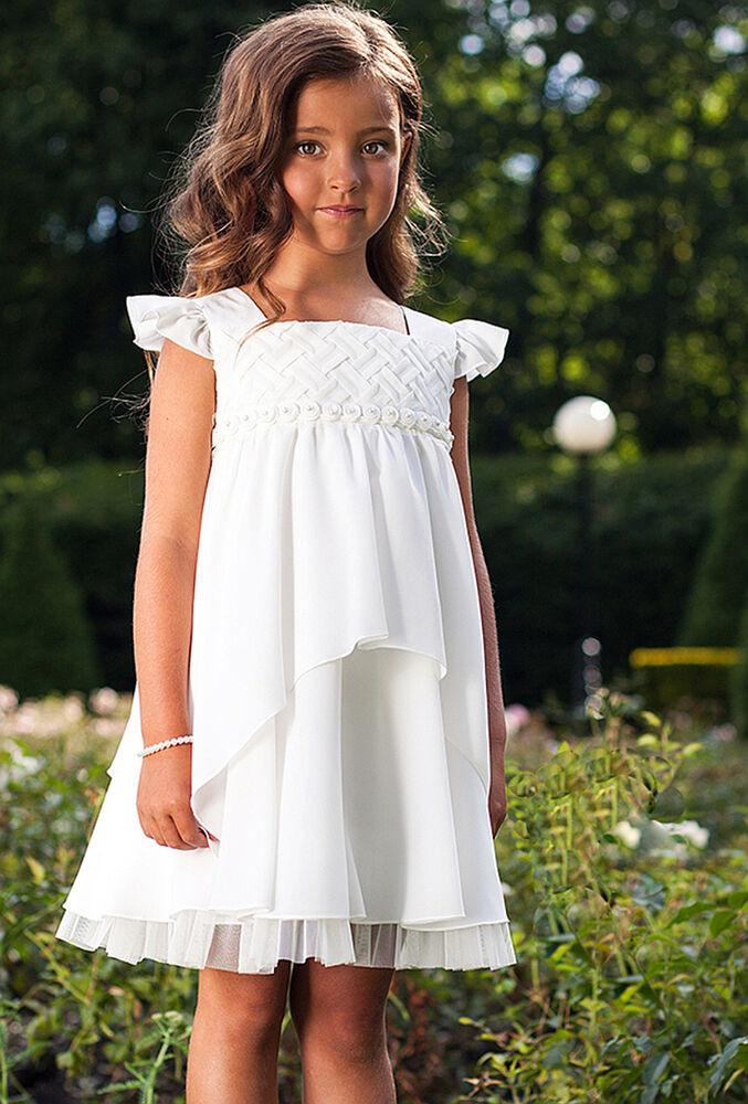 Sly Mädchen Kleid Fest Kommunion Einschulung Hochzeit