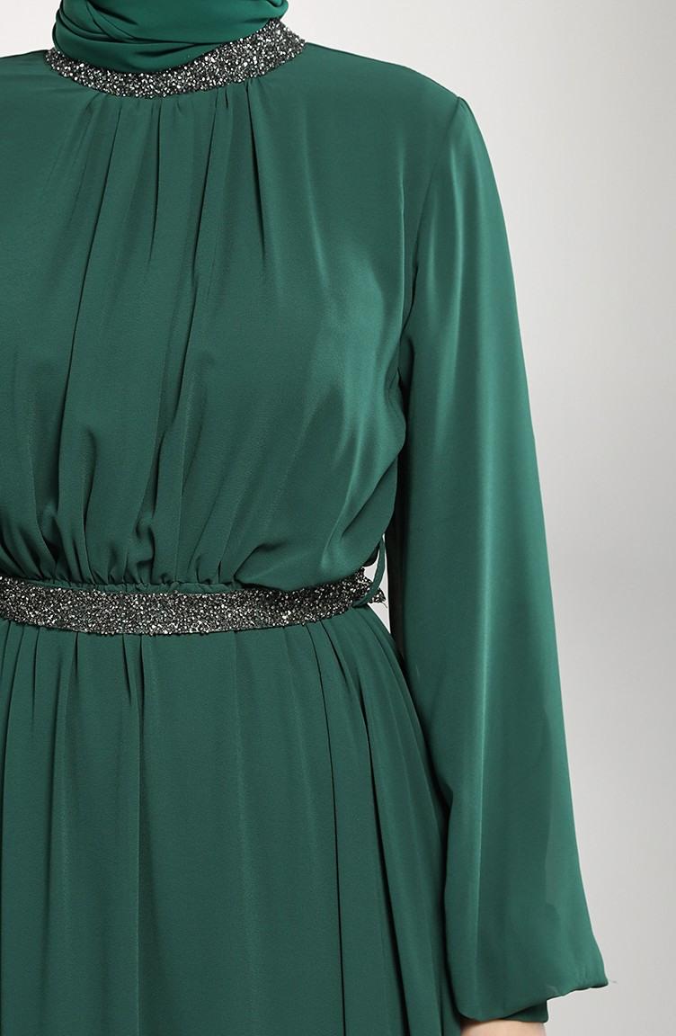 Smaragdgrün Hijababendkleider 533901  Sefamerve