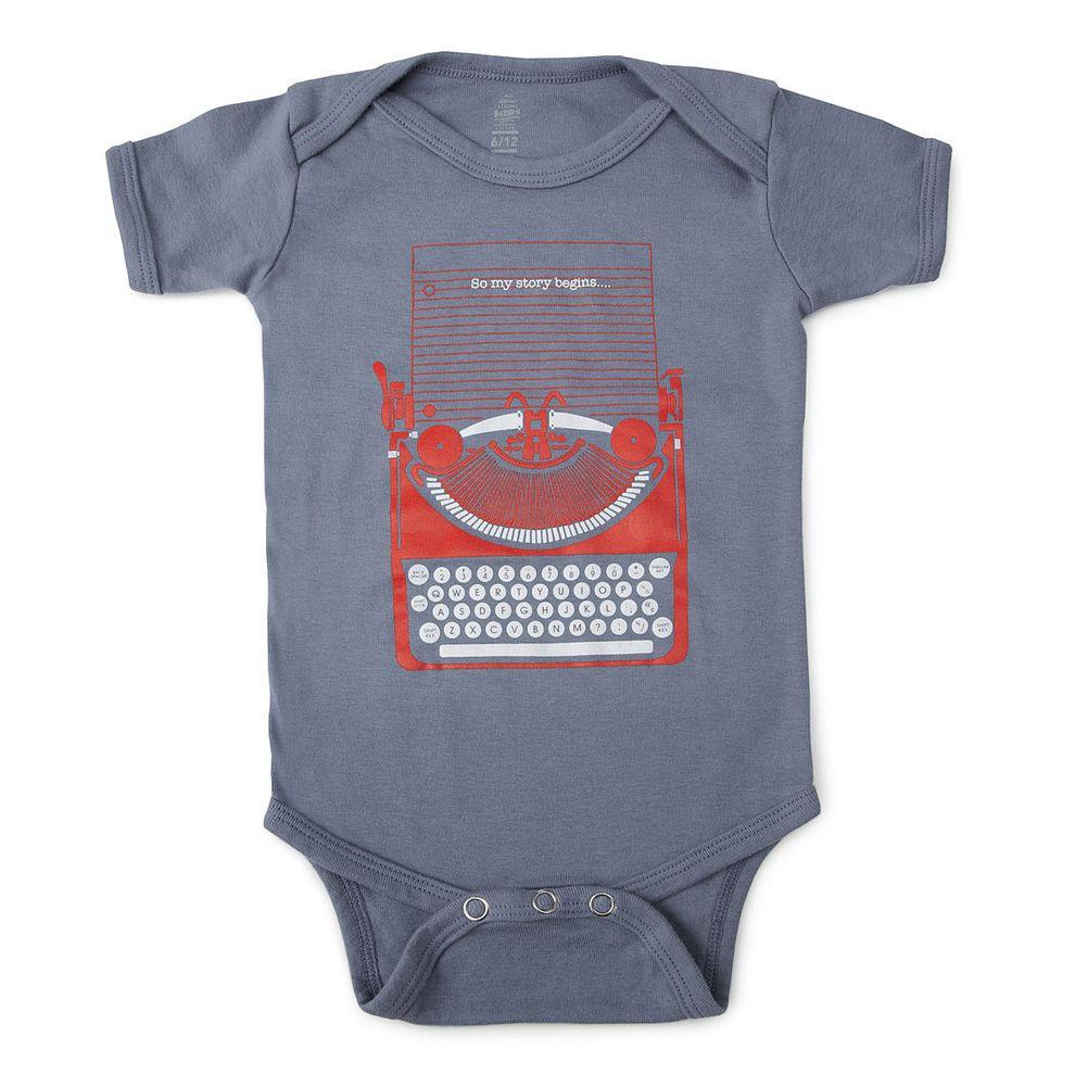 So My Story Begins  Geek Baby Clothes Geek Baby Cool