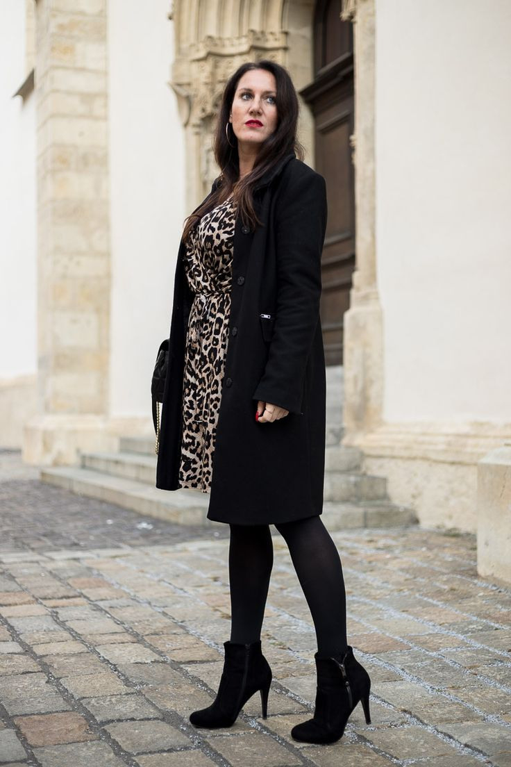 So Style Ich Mein Leoprintkleid  Kleider