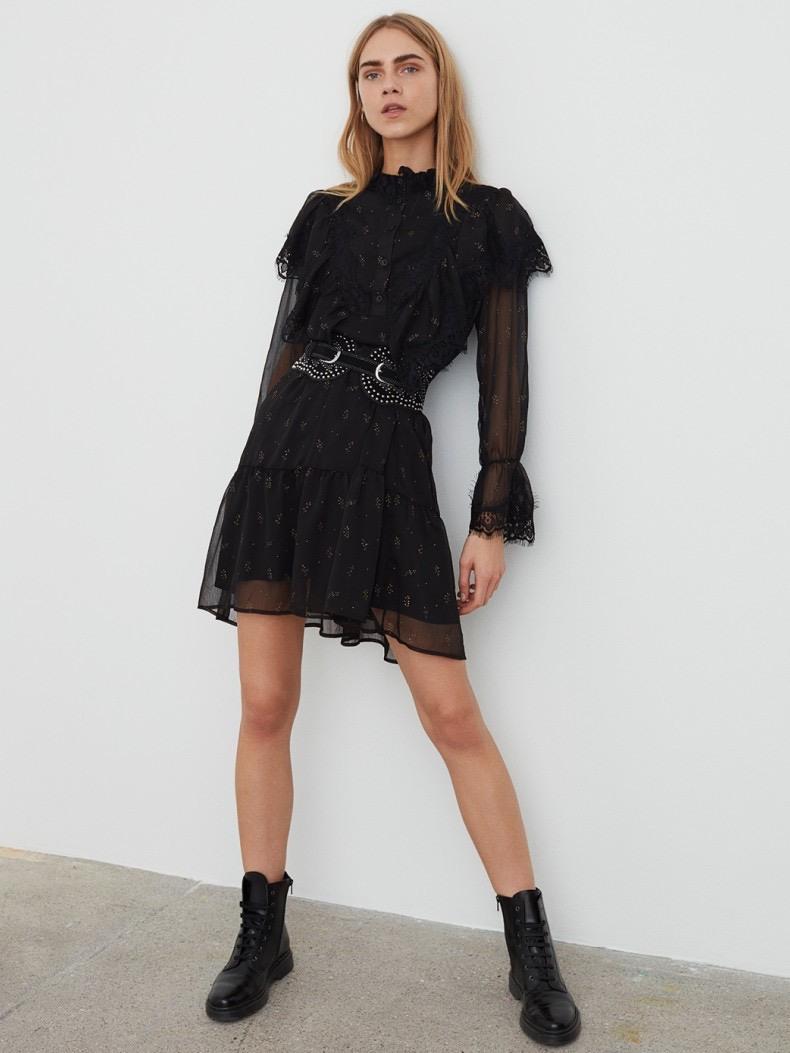 Sofie Schnoor Penny Dress  Black  Online Shop  Ava