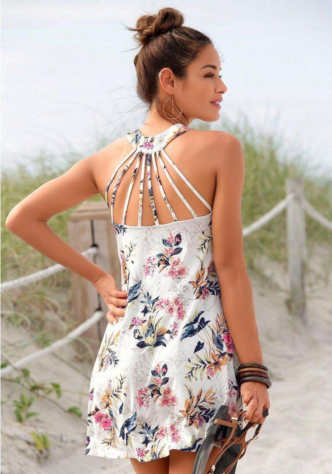 Soliver Beachwear Strandkleid Mit Besonderem Trägerdesign