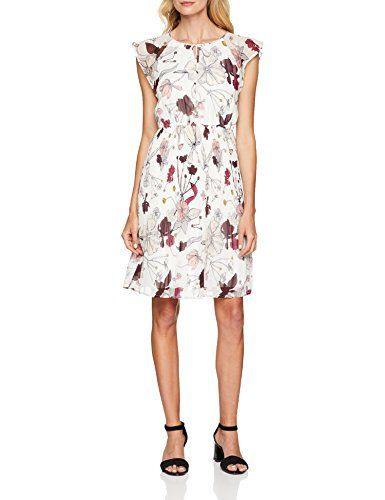 Soliver Black Label Damen 11807828072 Kleid Weiß
